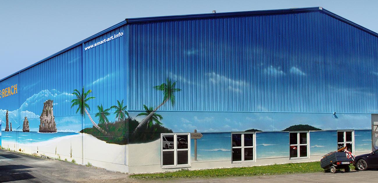 Einzigartig Aussenfassade Farben Das Beste Von Wandmalerei, Wandbemalung, Wandgemälde, Hallenbemalung, Wandbild, Strandbild, Strand,