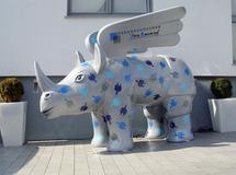 Do Rhino, Dortmunder Nashorn, Airbrush, Malerei, Lusebrink, smart art,